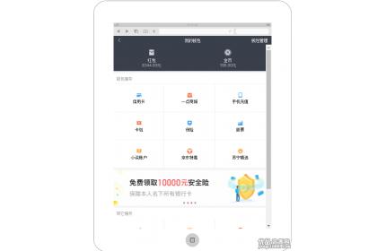 通用的手机app我的钱包管理中心页面模板
