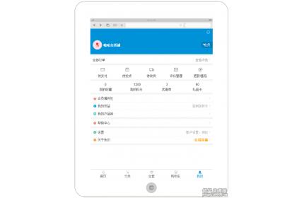 手机商城个人中心页面模板(蓝色版)