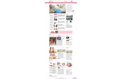 母婴知识资讯网站织梦模板源码