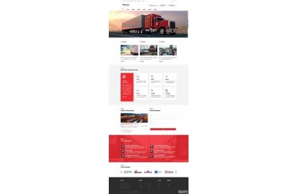 响应式物流货运企业网站织梦dedecms模板源码(含手机版)