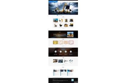 响应式机械电子工程企业网站织梦dedecms模板源码(含手机版)