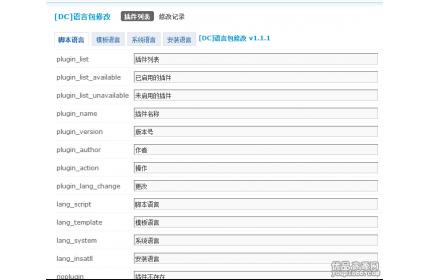 discuz商业插件[DC]语言包修改 v1.1.1下载
