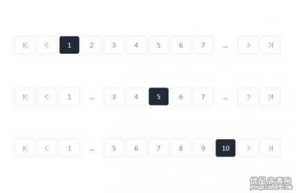jQuery黑色的分页按钮样式,动态的分页插件源码下载