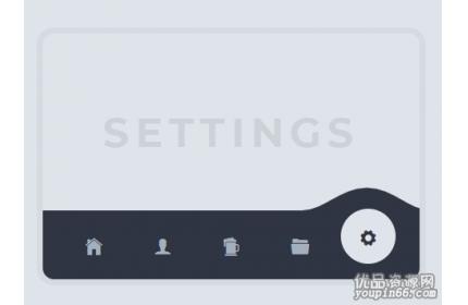 jQuery+CSS3+SVG手机端图标导航页面切换特效源码下载