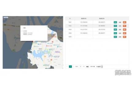 layui表格结合百度地图定位实例源代码下载