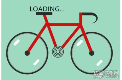 svg自行车轮胎加载等待动画源代码下载