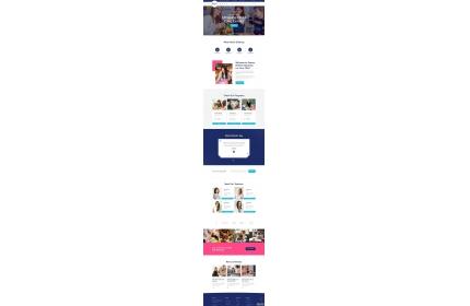 幼儿园教育机构网站HTML模板源代码下载