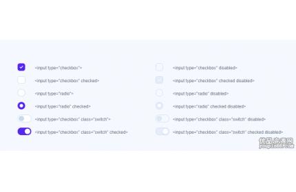 自定义复选框单选按钮美化源代码下载