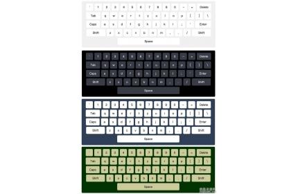 原生js虚拟键盘实例源代码下载