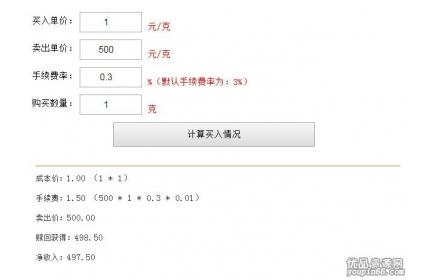 vue.js买卖价格计算器源代码下载