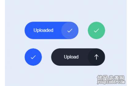html5上传按钮ui动画特效源代码下载