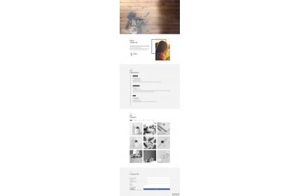 个人简历作品展示html模板下载